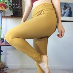 LuLaRoe Pants - Lularoe Mustard Yellow Solid Leggings